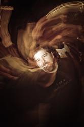 Creative spiral blur on Paulo Rodriguez