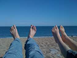 iPhone photo - Our feet in the sun