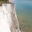 Photoshoot on the top of a white cliff in Dover