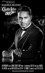 Male model Vik Moreno as James Bond 007 in Club Life