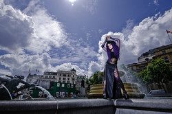 Alba, the Angel of Darkness in Trafalgar Square