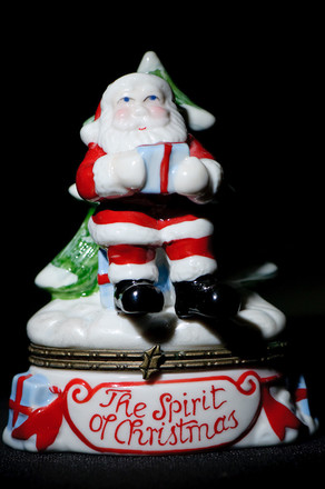 Test shot of Santa with a grid spotted flashgun